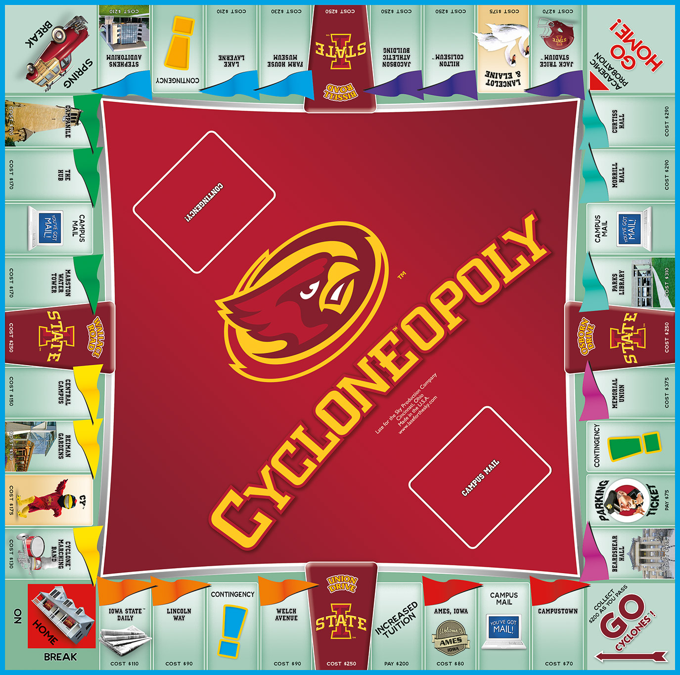 CYCLONEOPOLY Board Game