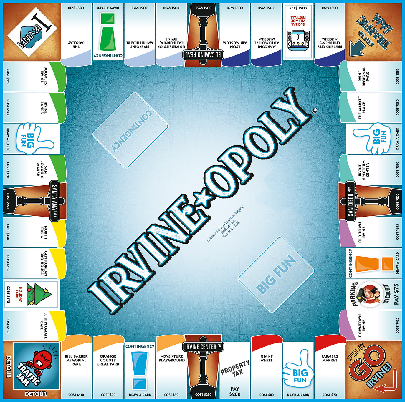 IRVINE-OPOLY Board Game