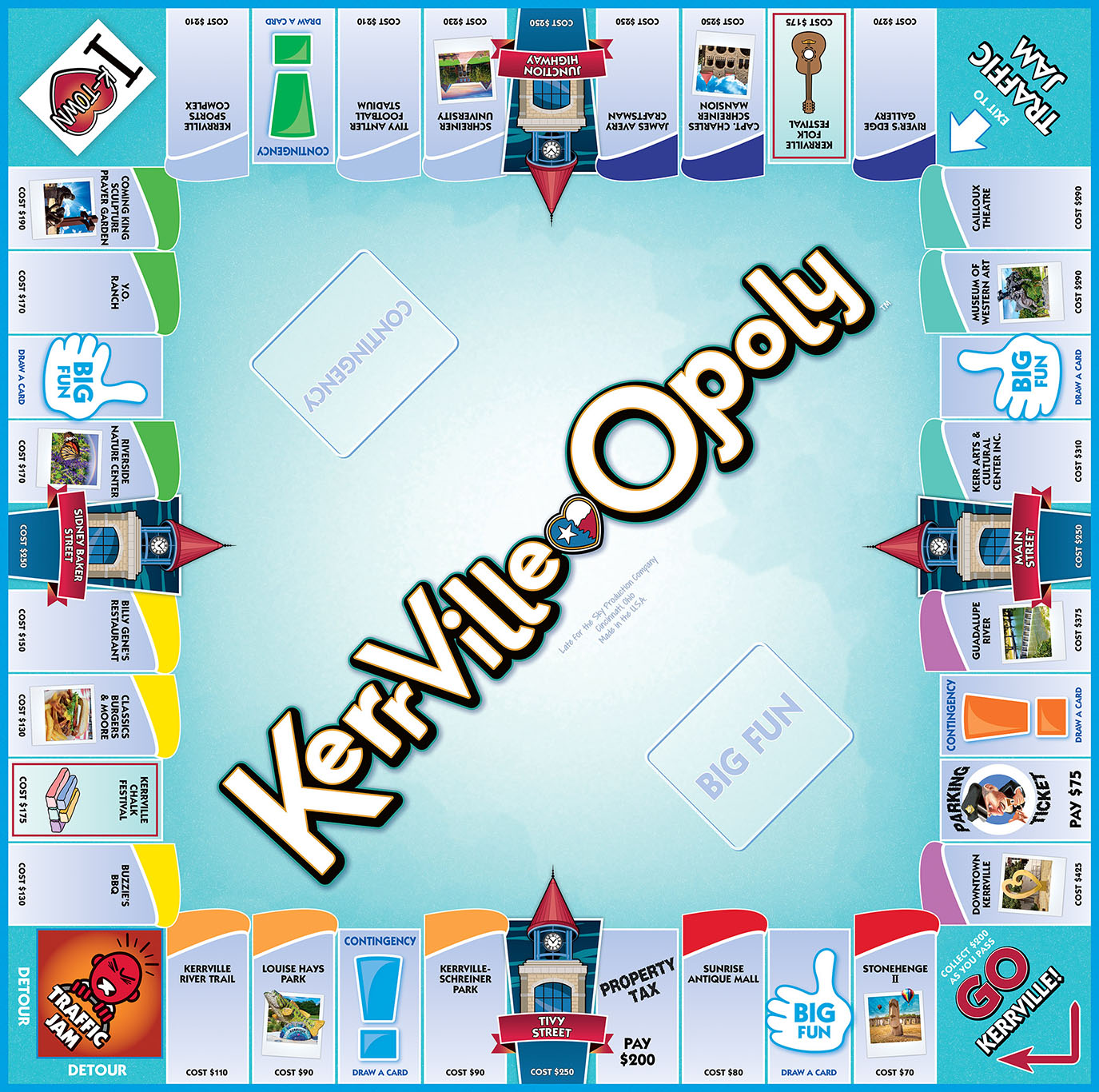 KERRVILLE-OPOLY Board Game