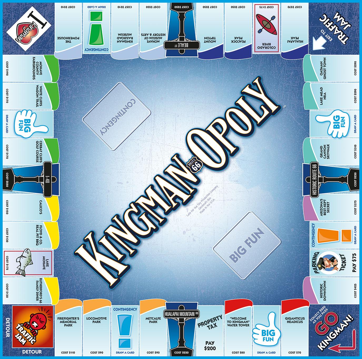 KINGMAN-OPOLY Board Game