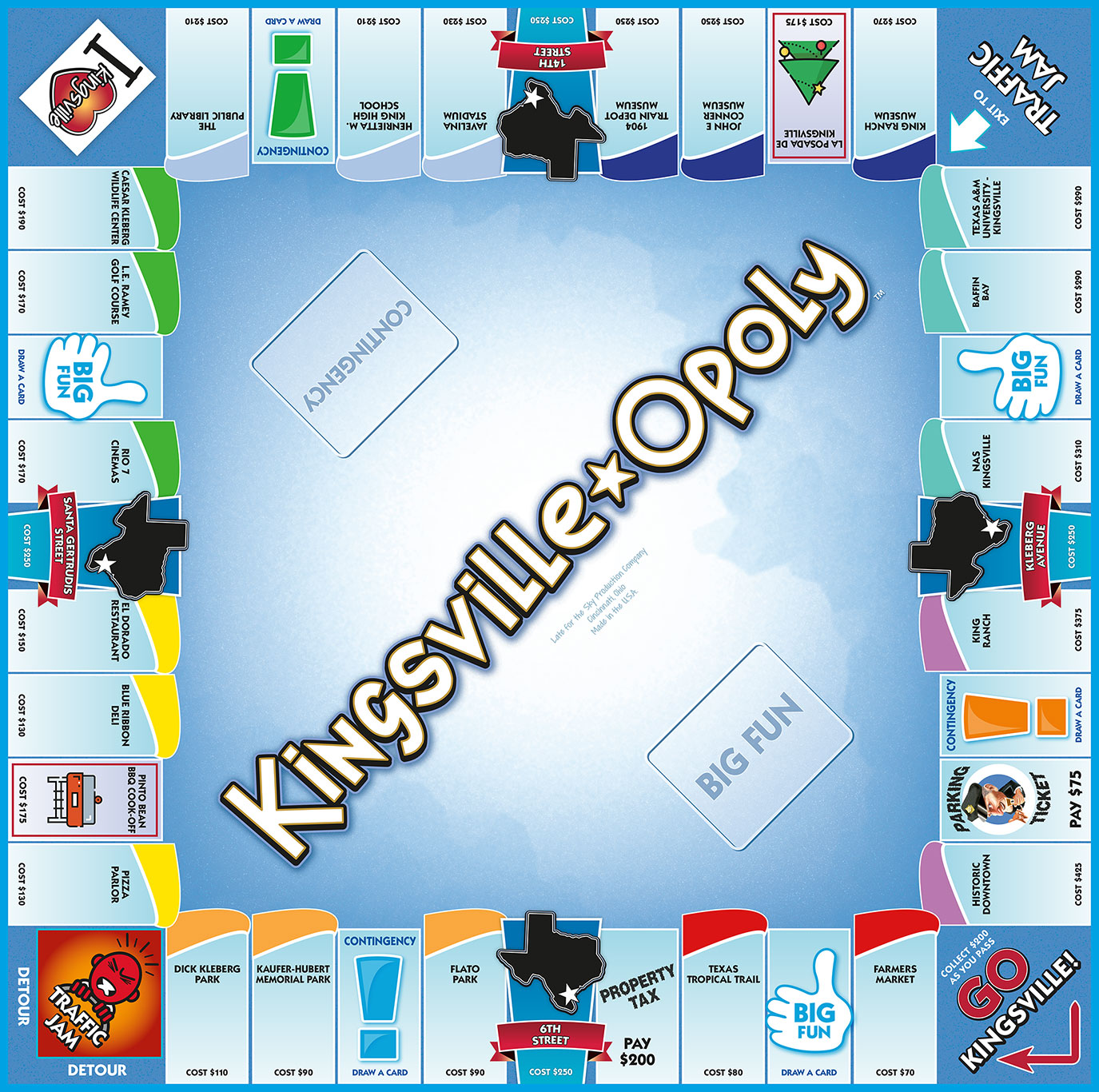 KINGSVILLE-OPOLY Board Game