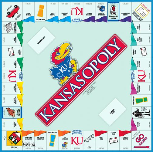KANSASOPOLY Board Game