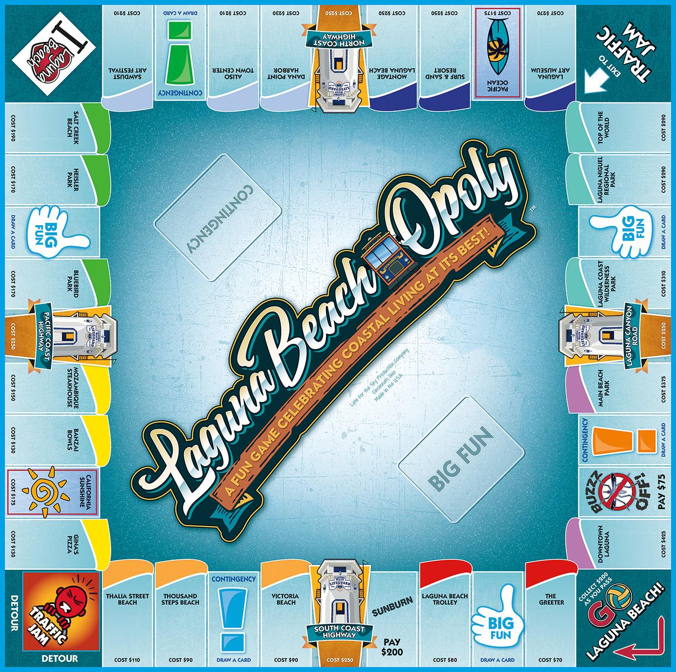 LAGUNA BEACH-OPOLY Board Game
