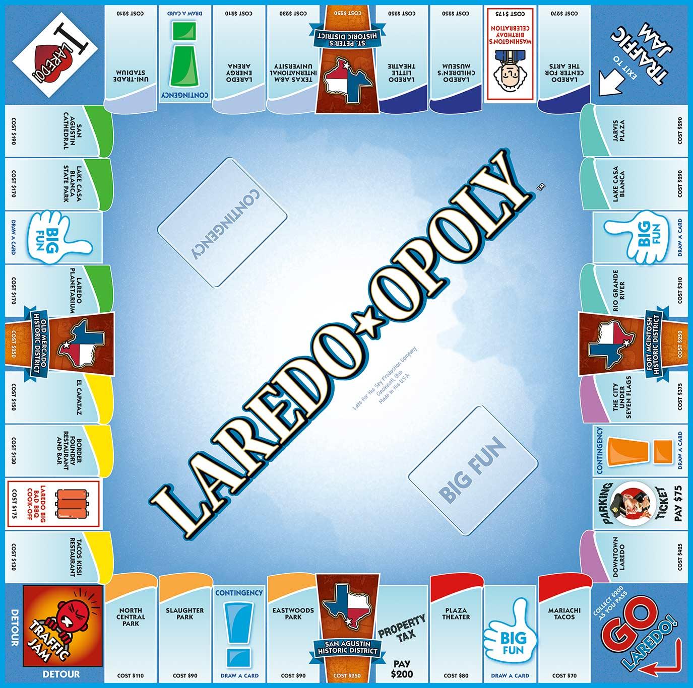 LAREDO-OPOLY Board Game