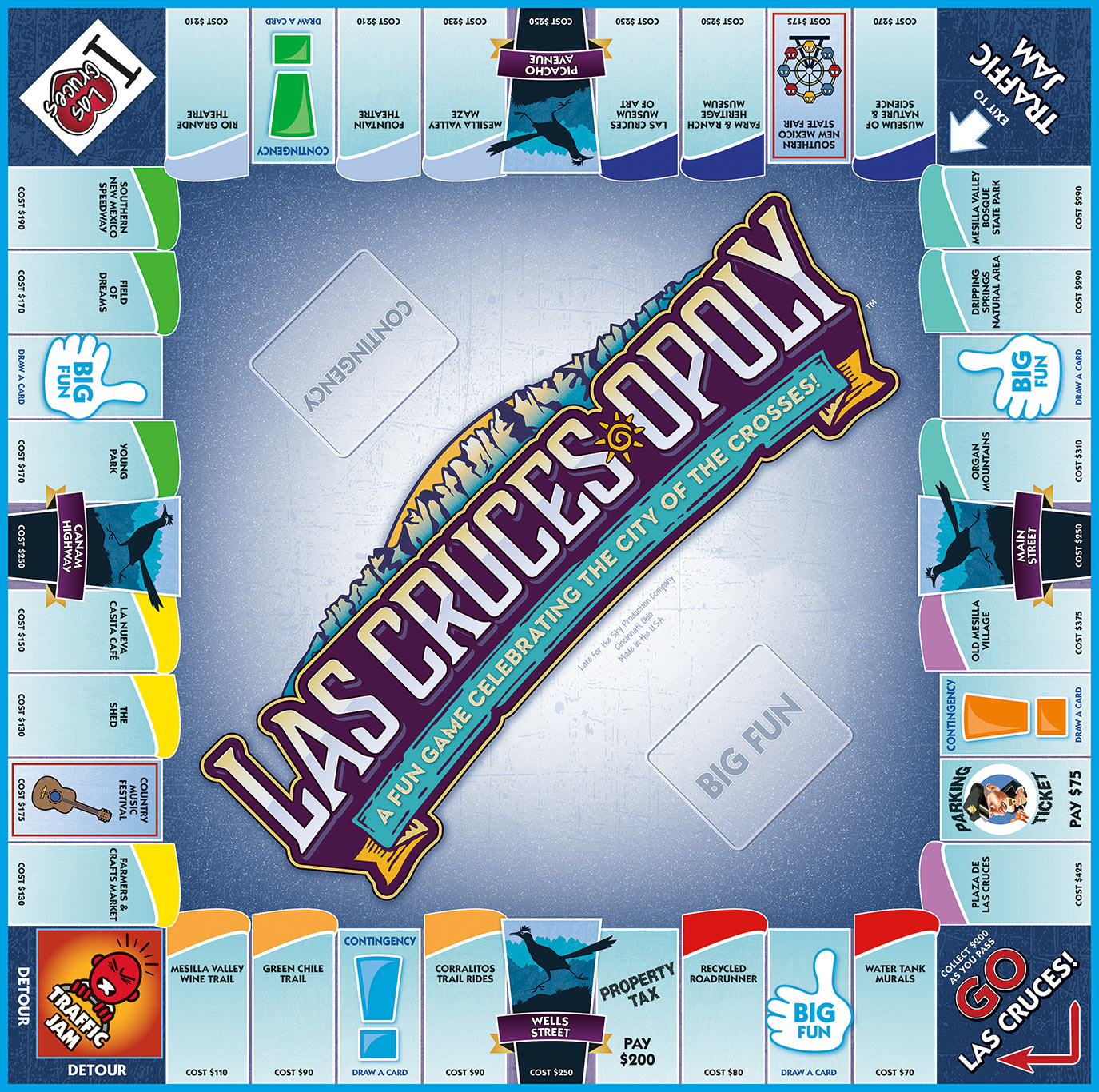 LAS CRUCES-OPOLY Board Game