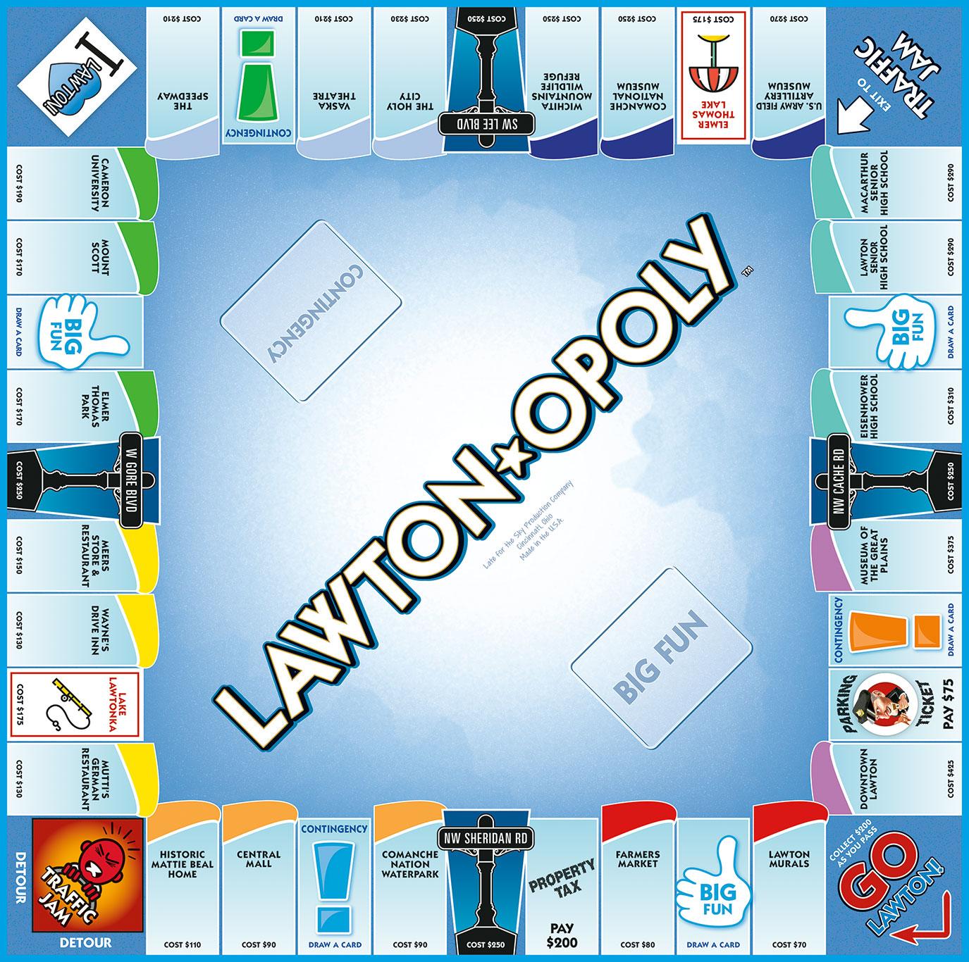 LAWTON-OPOLY Board Game