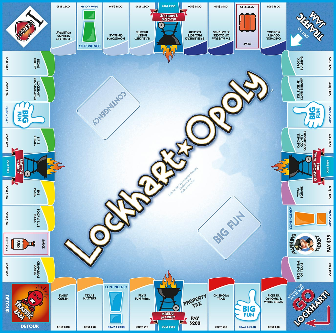 LOCKHART-OPOLY Board Game