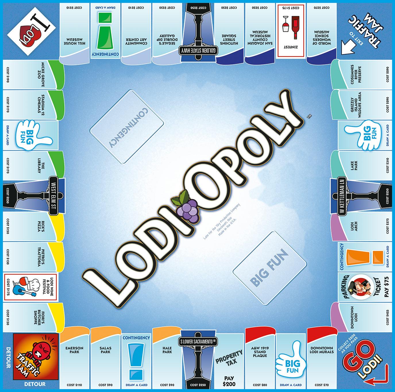LODI-OPOLY Board Game
