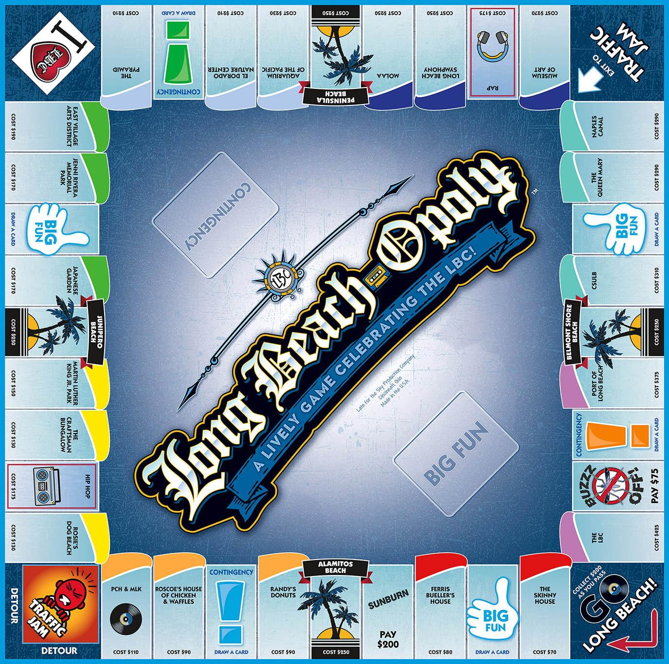 LONG BEACH-OPOLY Board Game