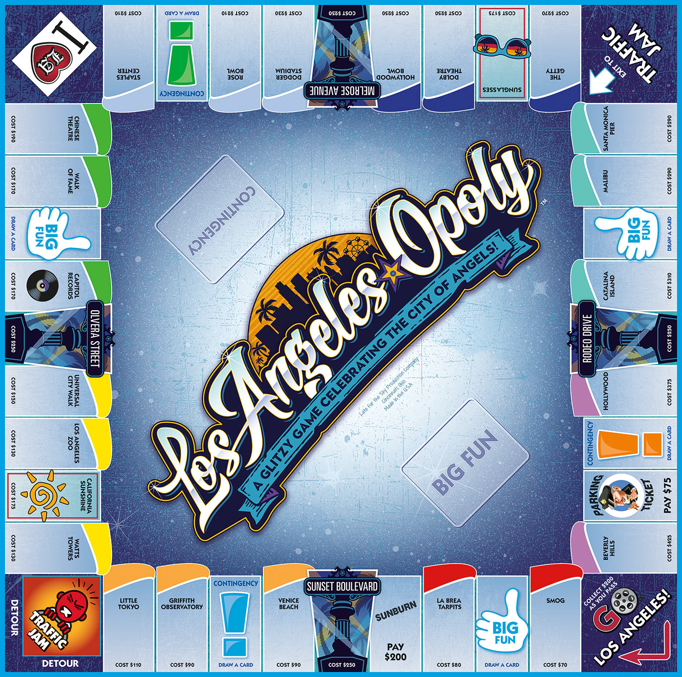 LOS ANGELES-OPOLY Board Game