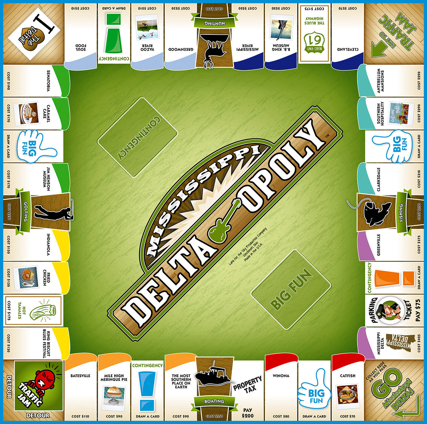 MISSISSIPPI DELTA-OPOLY Board Game
