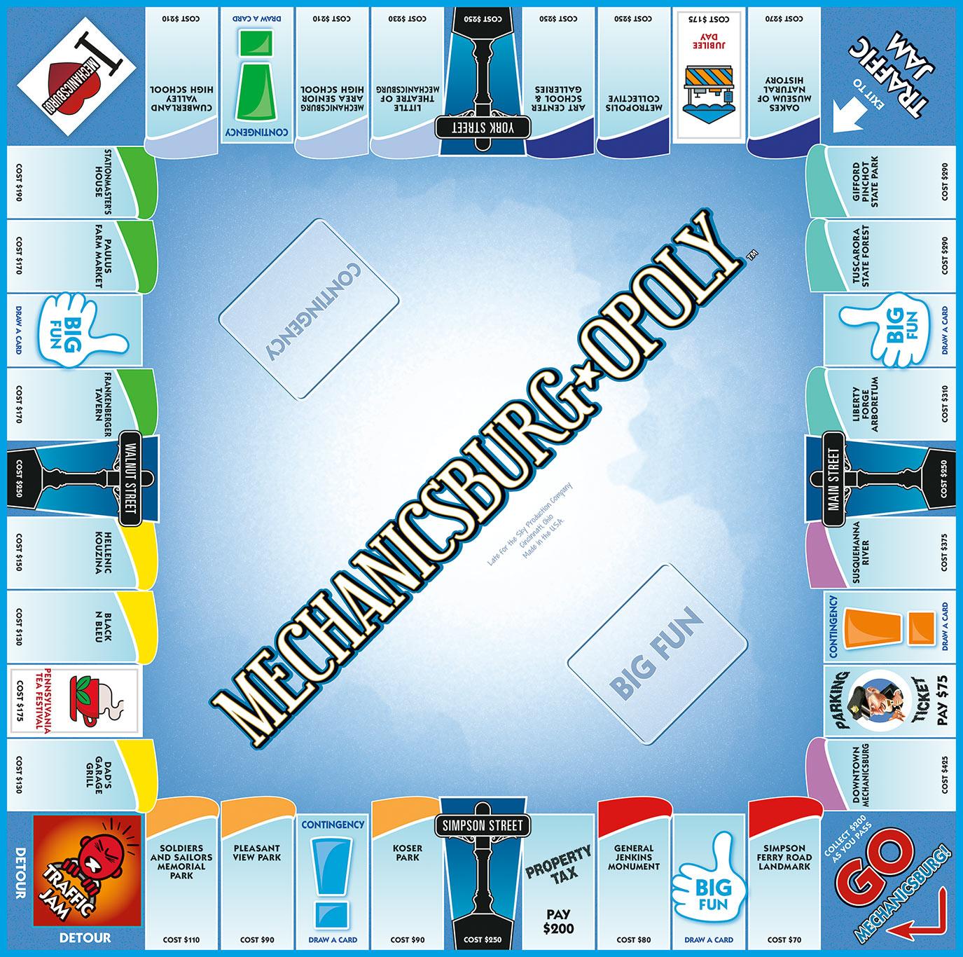 MECHANICSBURG-OPOLY Board Game