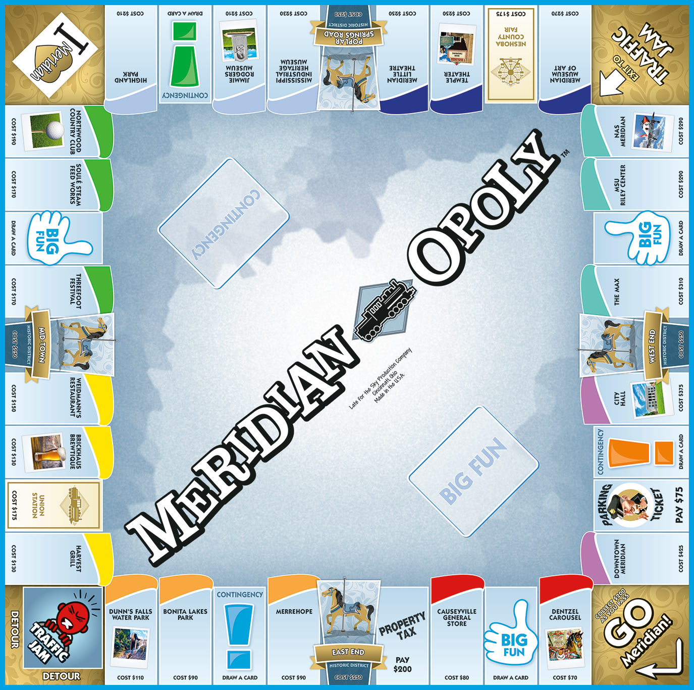 MERIDIAN-OPOLY Board Game