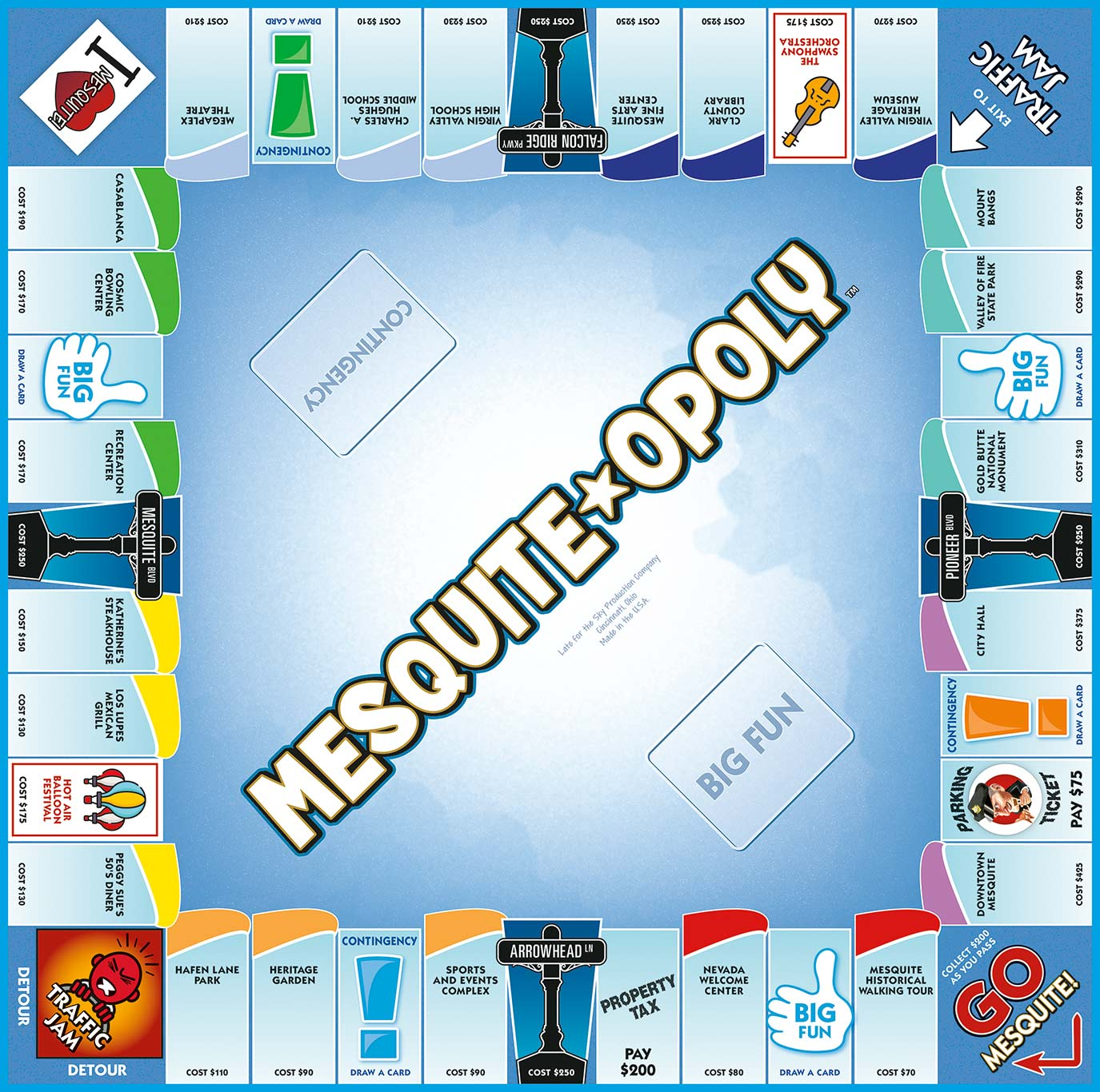 MESQUITE-OPOLY Board Game