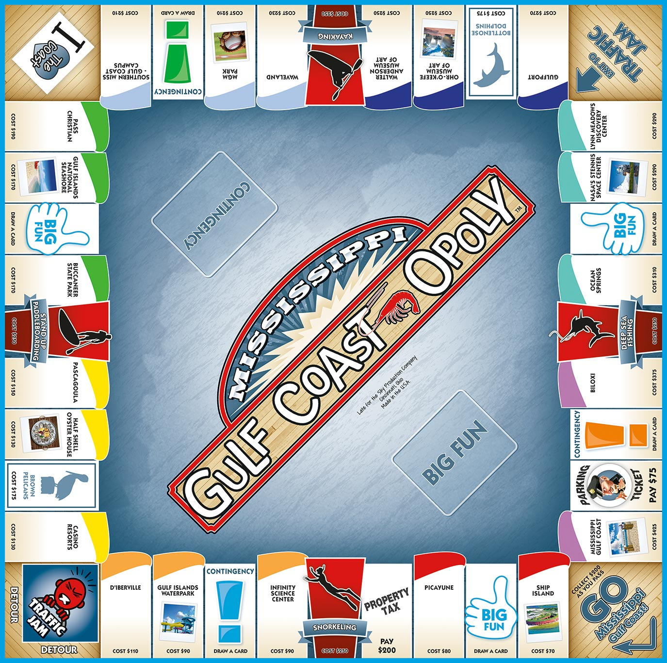 MISSISSIPPI GULF COAST-OPOLY Board Game