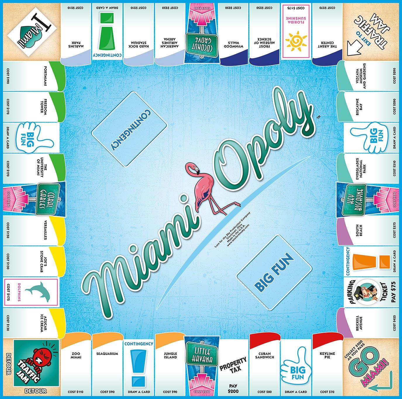 MIAMI-OPOLY Board Game