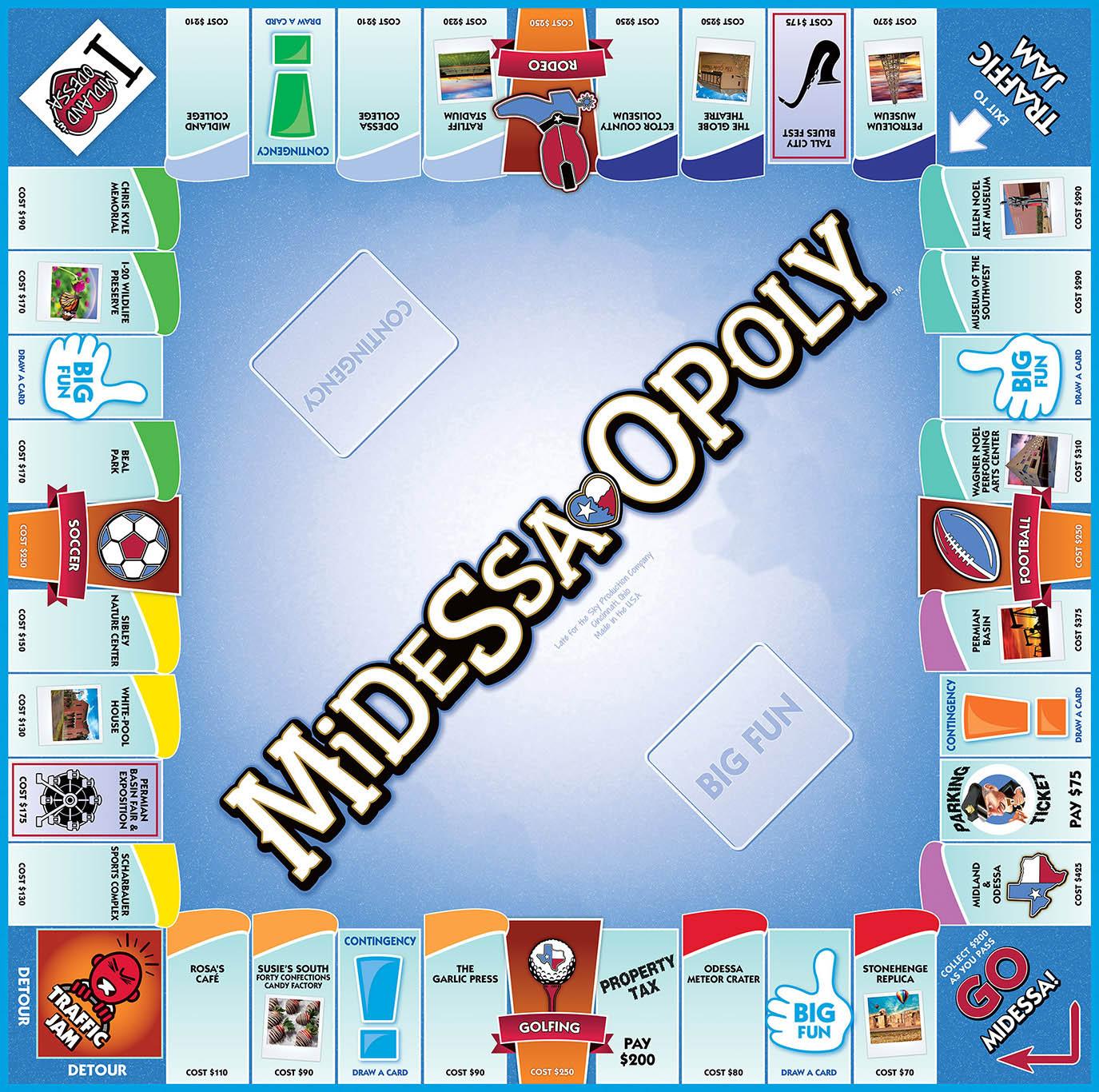 MIDESSA-OPOLY Board Game