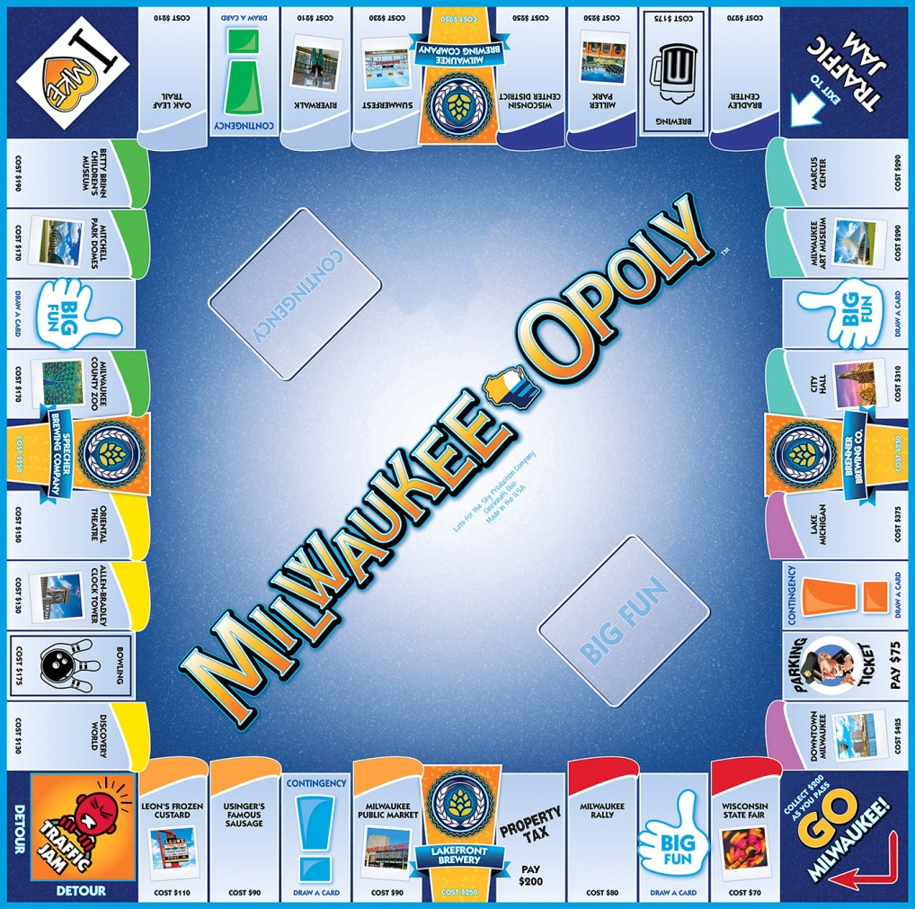 MILWAUKEE-OPOLY Board Game