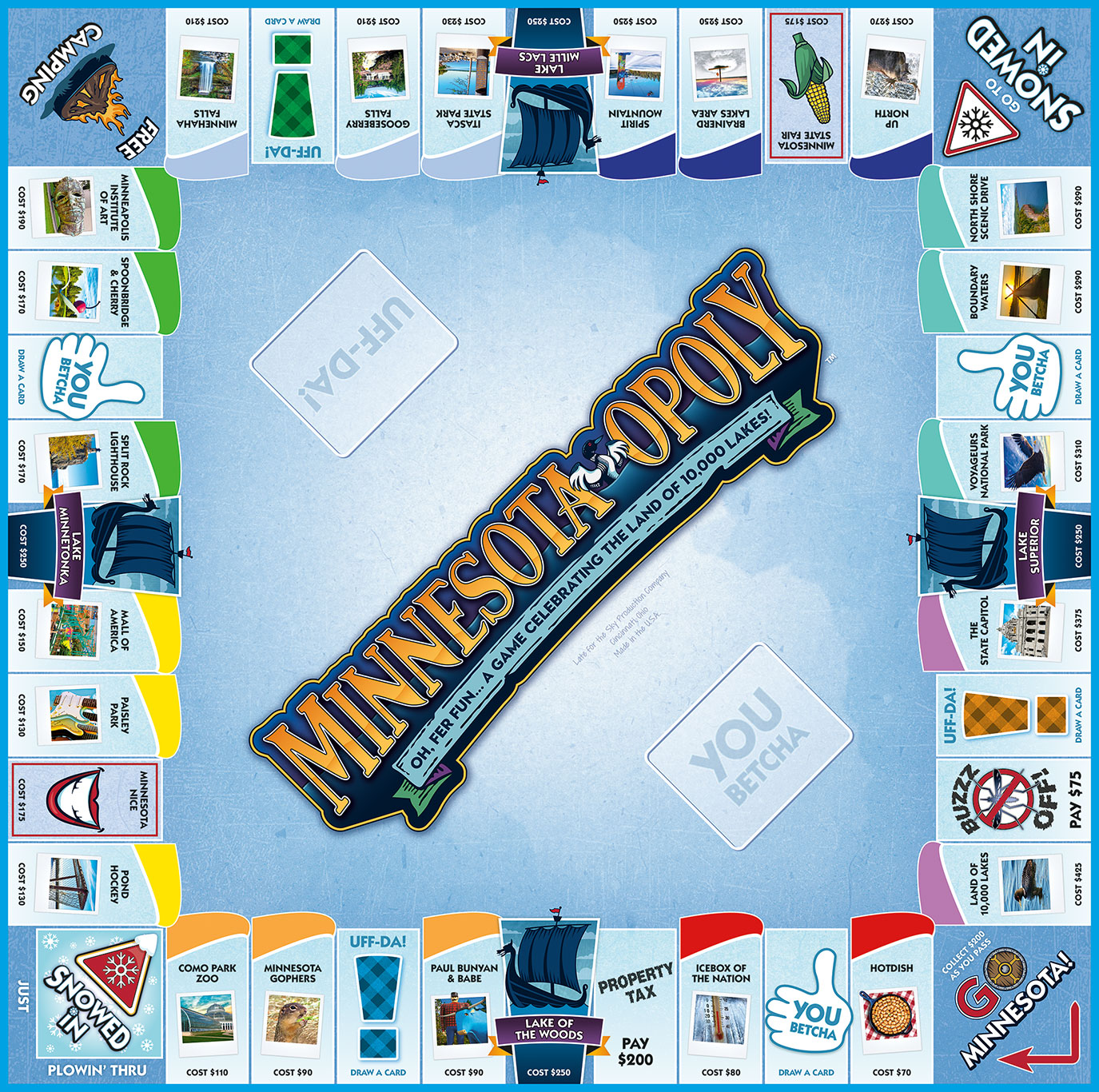 MINNESOTA-OPOLY Board Game