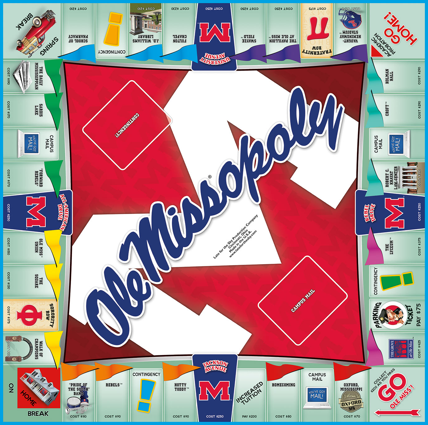 OLE MISSOPOLY Board Game