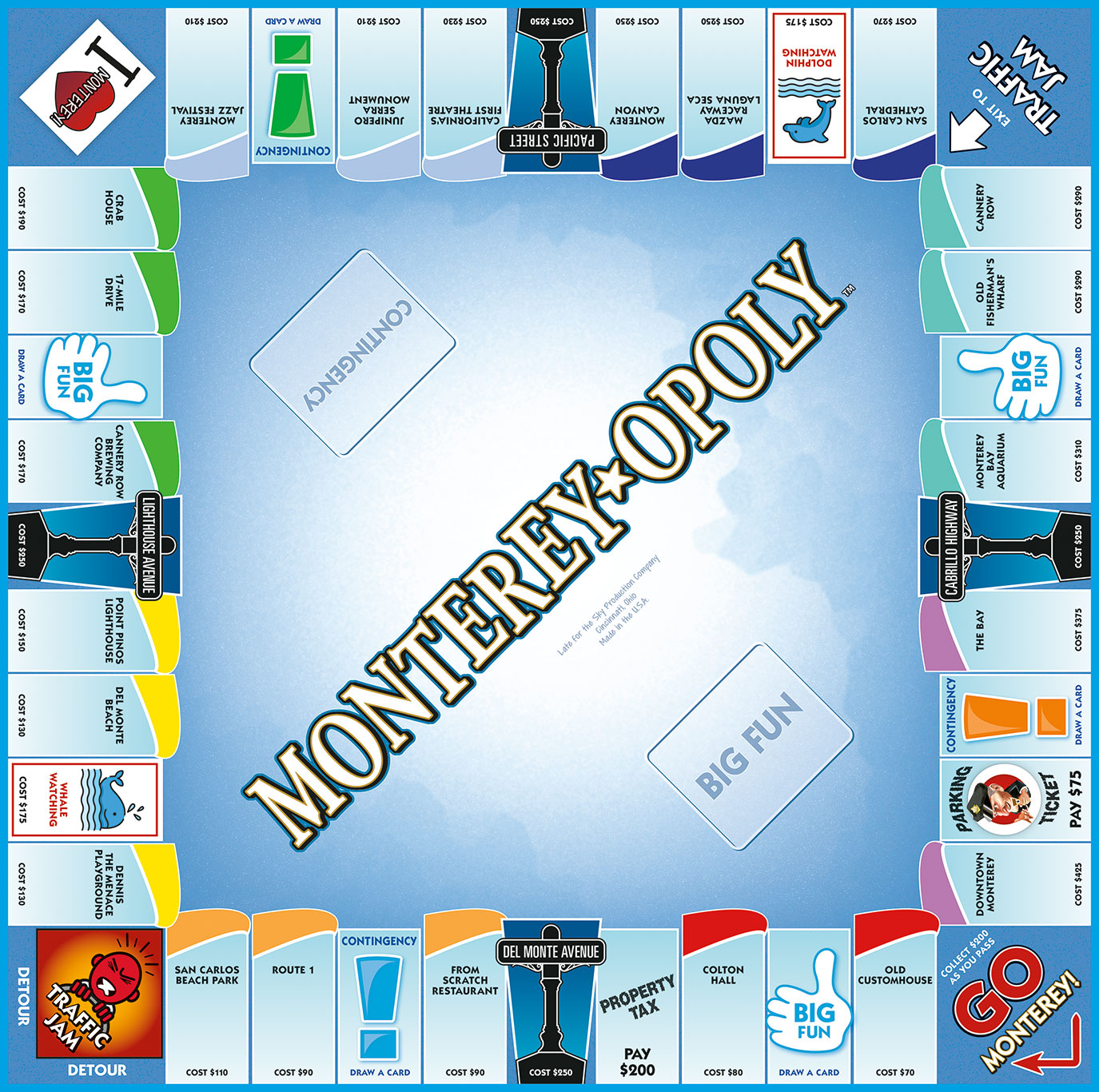 MONTEREY-OPOLY Board Game