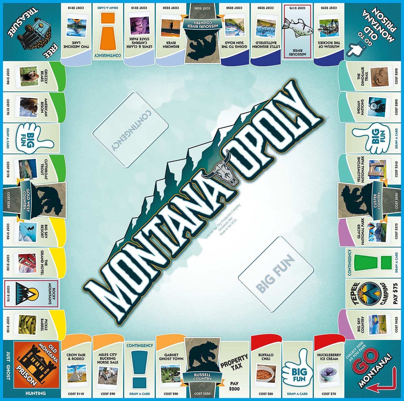 MONTANA-OPOLY Board Game