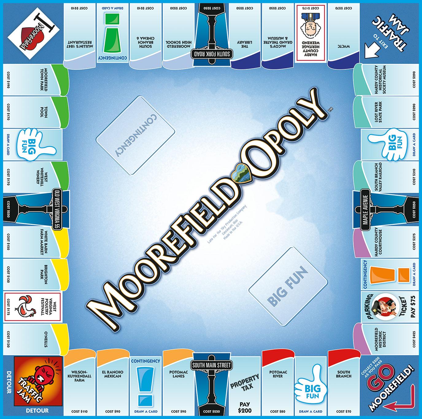 MOOREFIELD-OPOLY Board Game