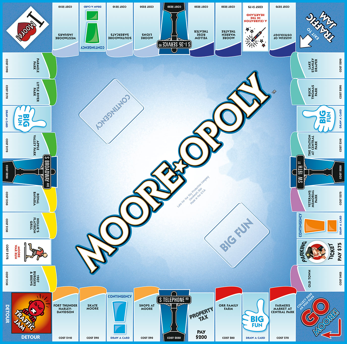 MOORE-OPOLY Board Game