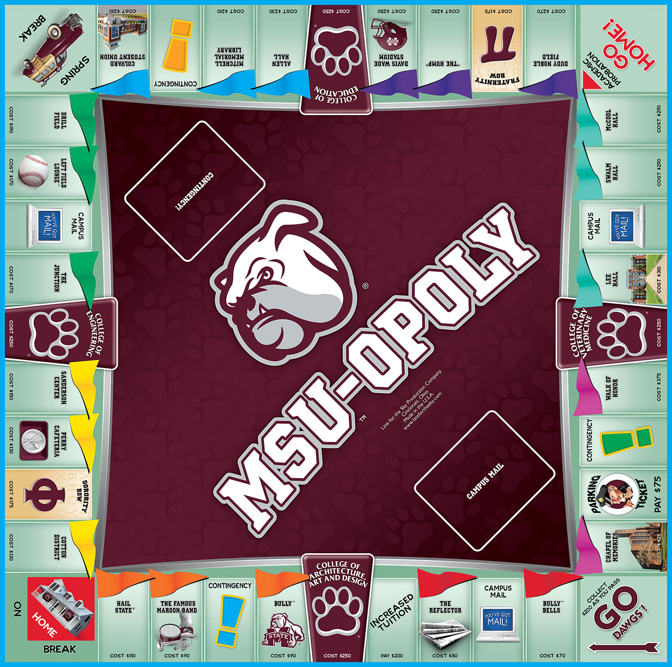 MSU-OPOLY Board Game