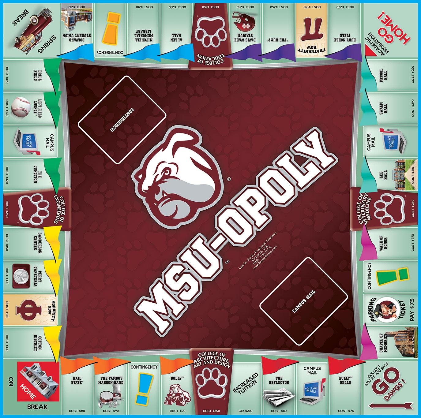MSU-OPOLY Board Game