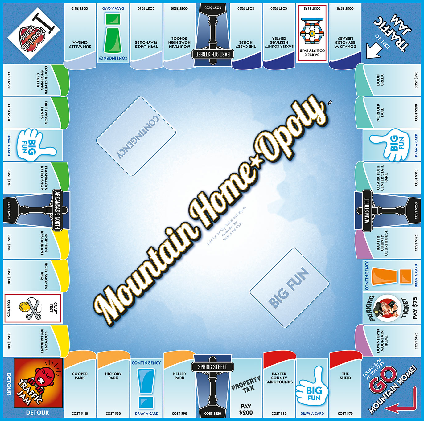 MOUNTAIN HOME-OPOLY Board Game
