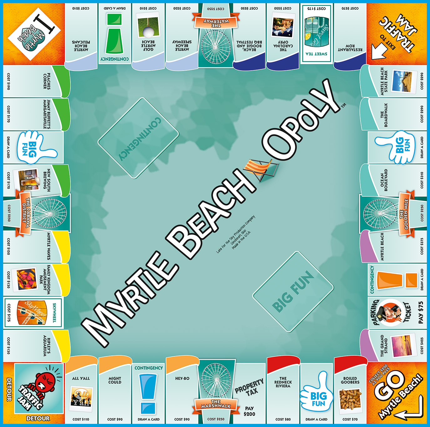 MYRTLE BEACH-OPOLY Board Game
