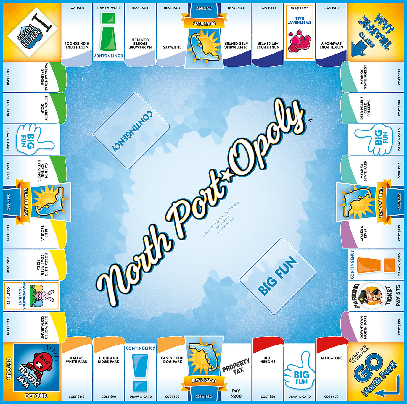 NORTH PORT-OPOLY Board Game