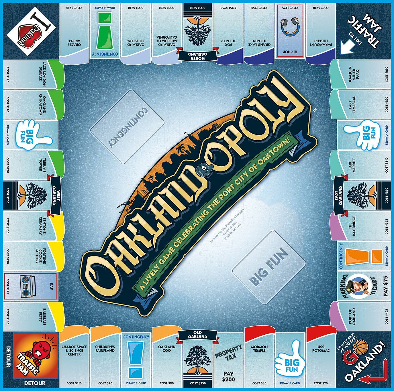 OAKLAND-OPOLY Board Game