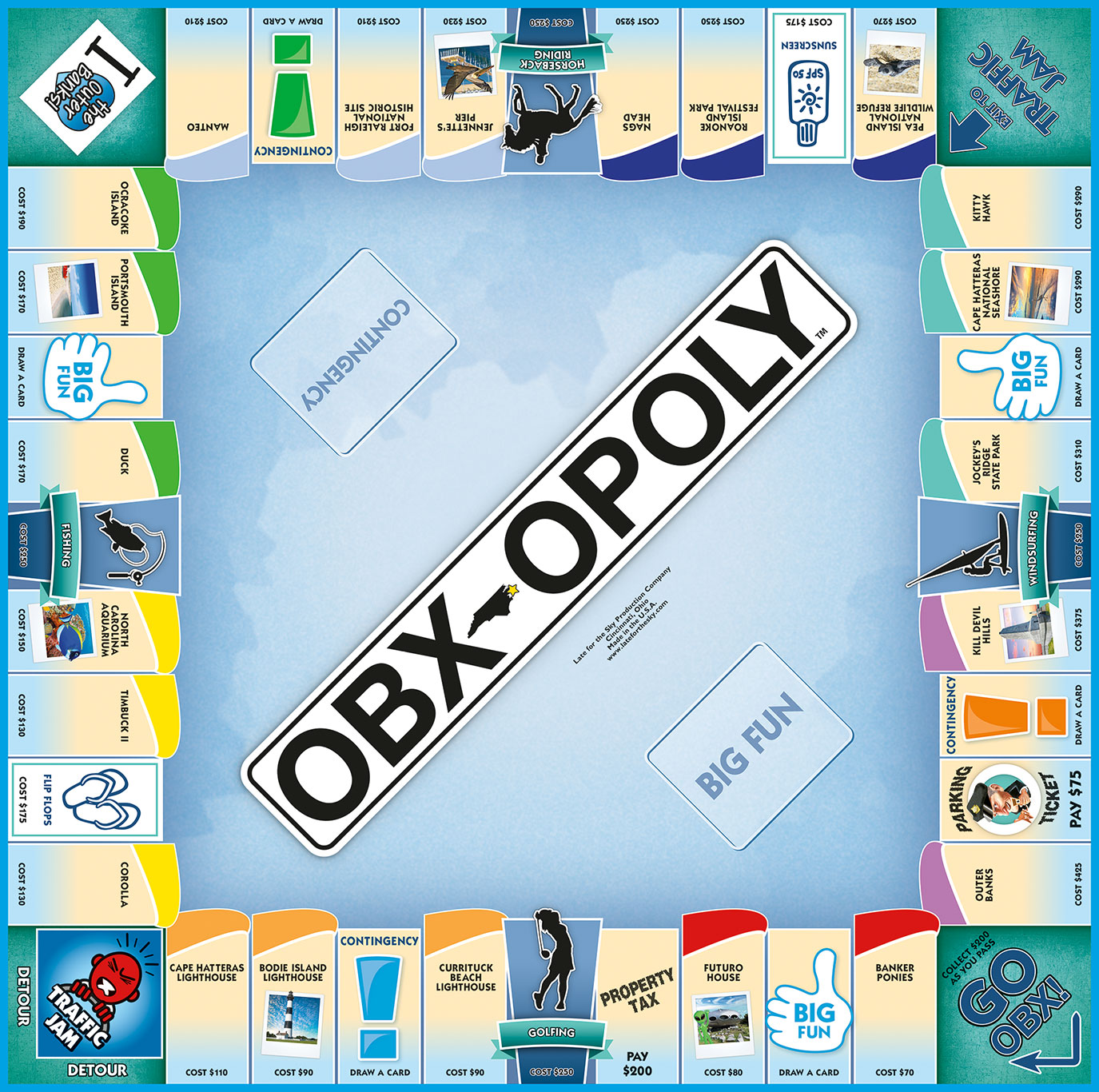 OBX-OPOLY Board Game