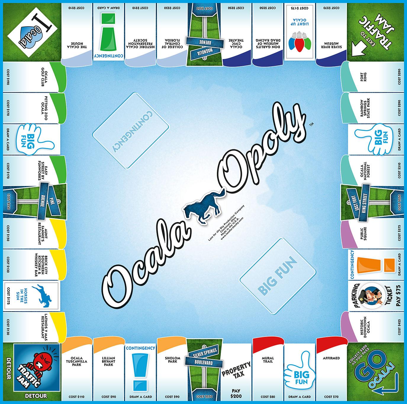 OCALA-OPOLY Board Game