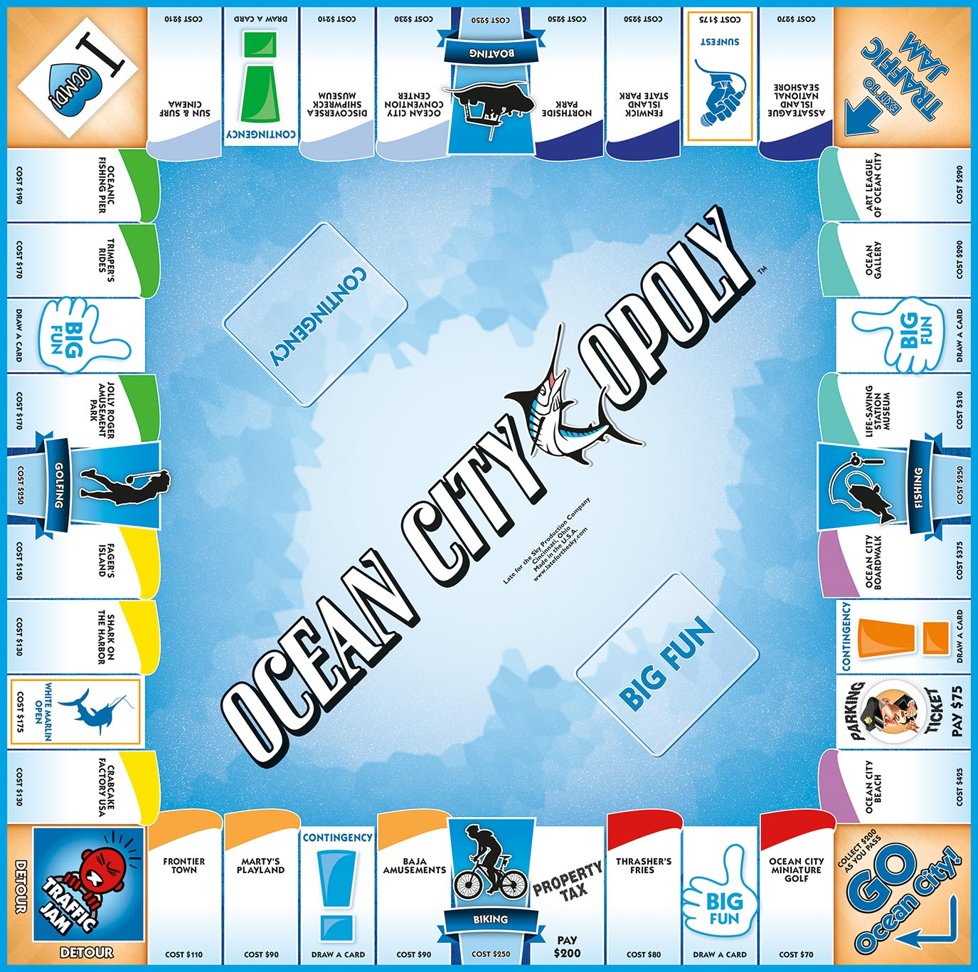OCEAN CITY-OPOLY Board Game