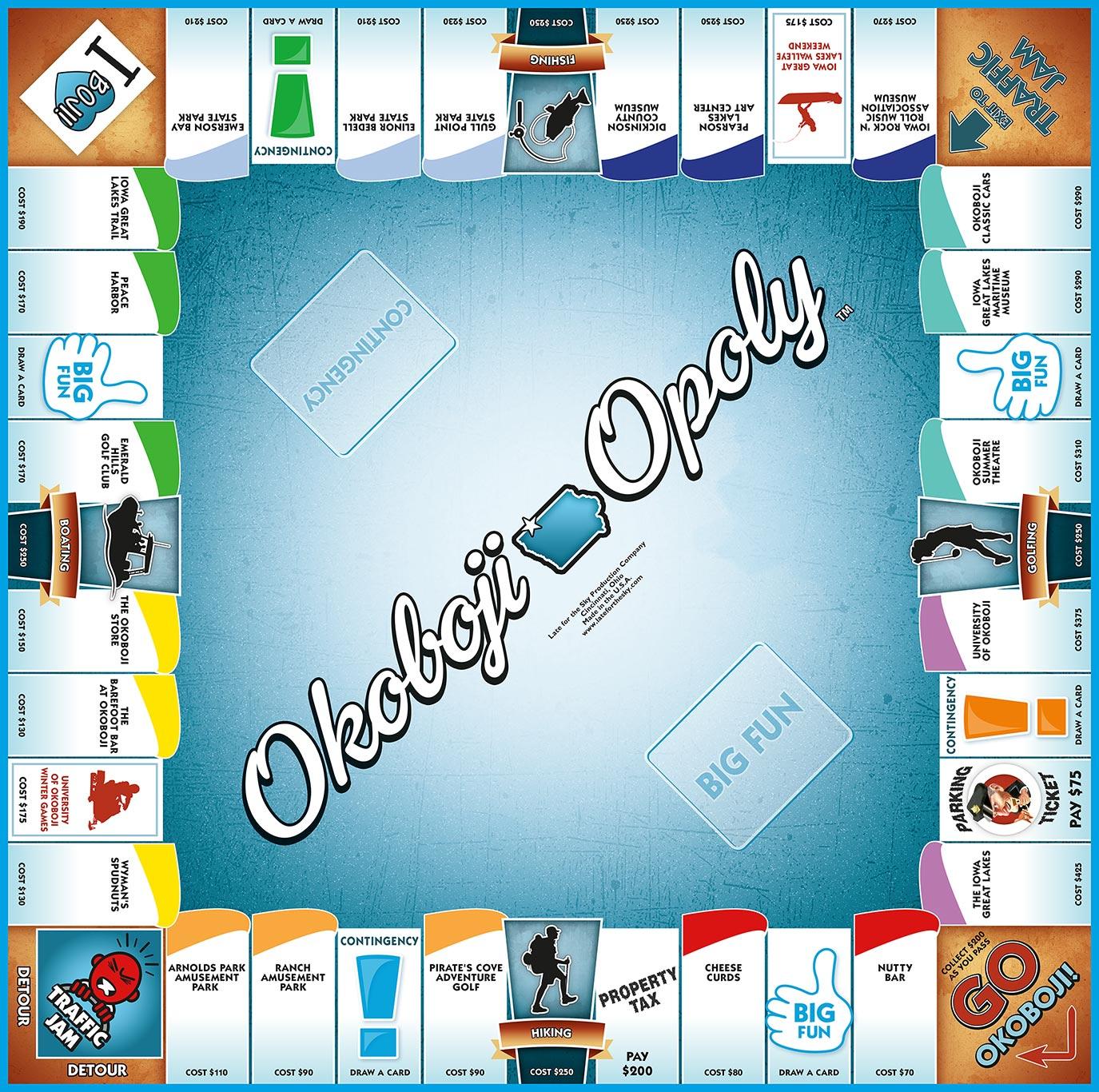OKOBOJI-OPOLY Board Game