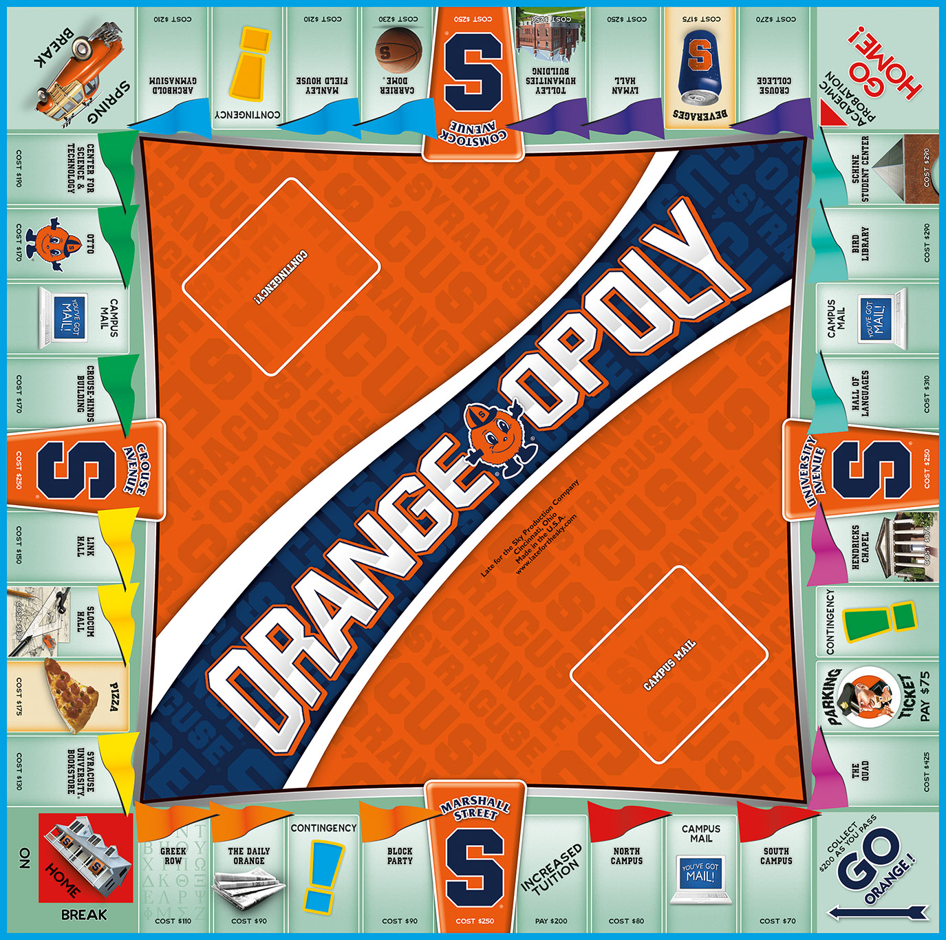 ORANGE OPOLY Board Game
