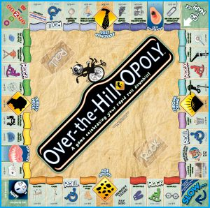 OVER THE HILL-OPOLY Board Game