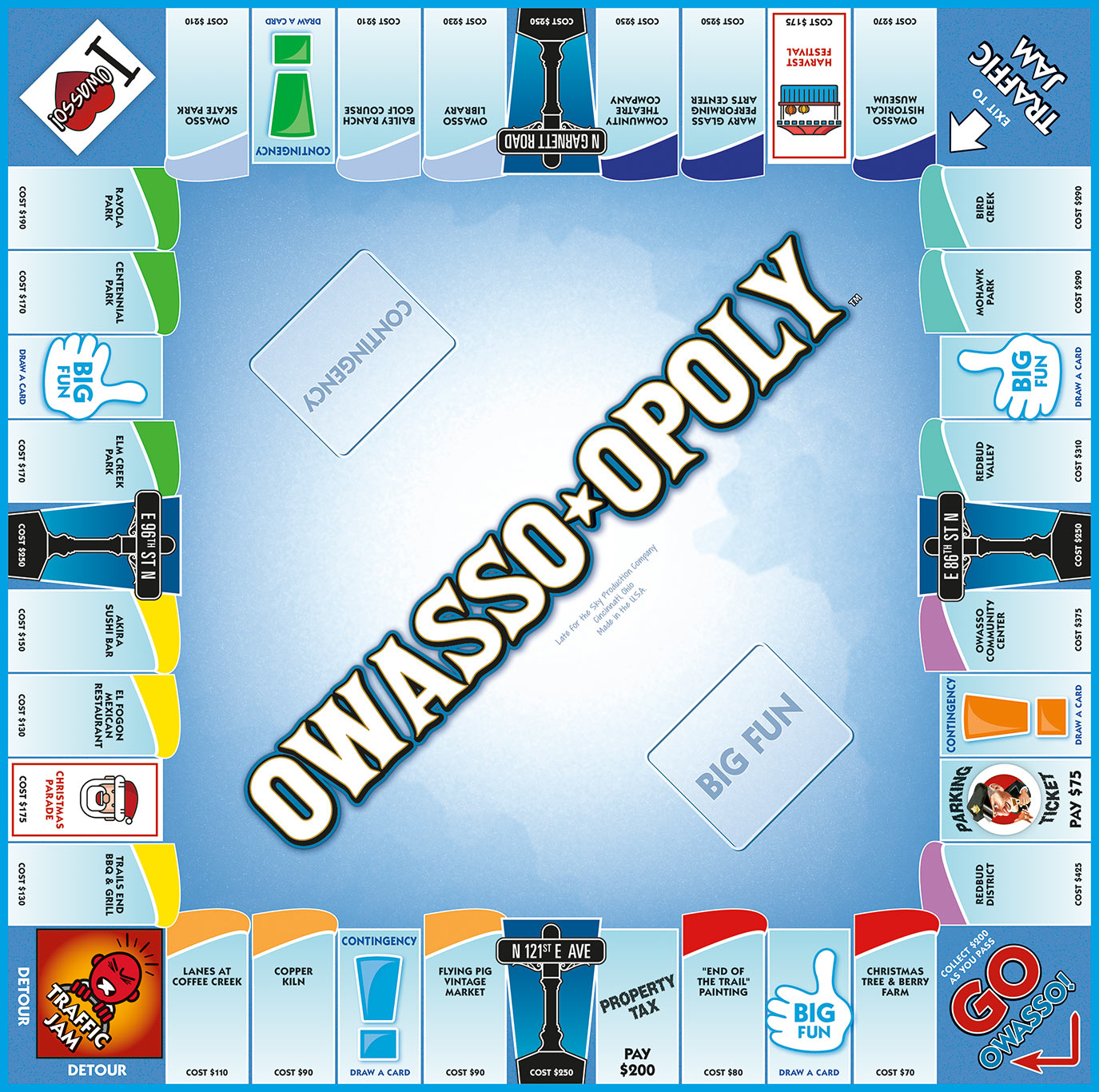 OWASSO-OPOLY Board Game