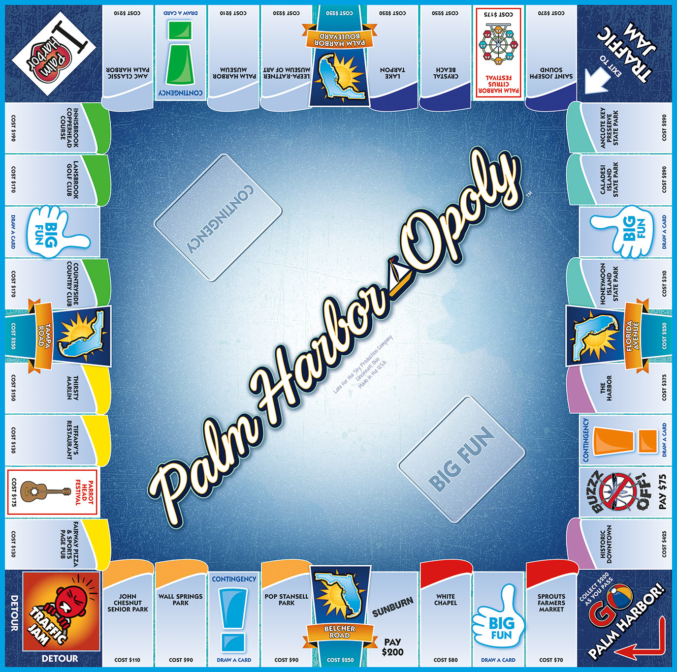 PALM HARBOR-OPOLY Board Game