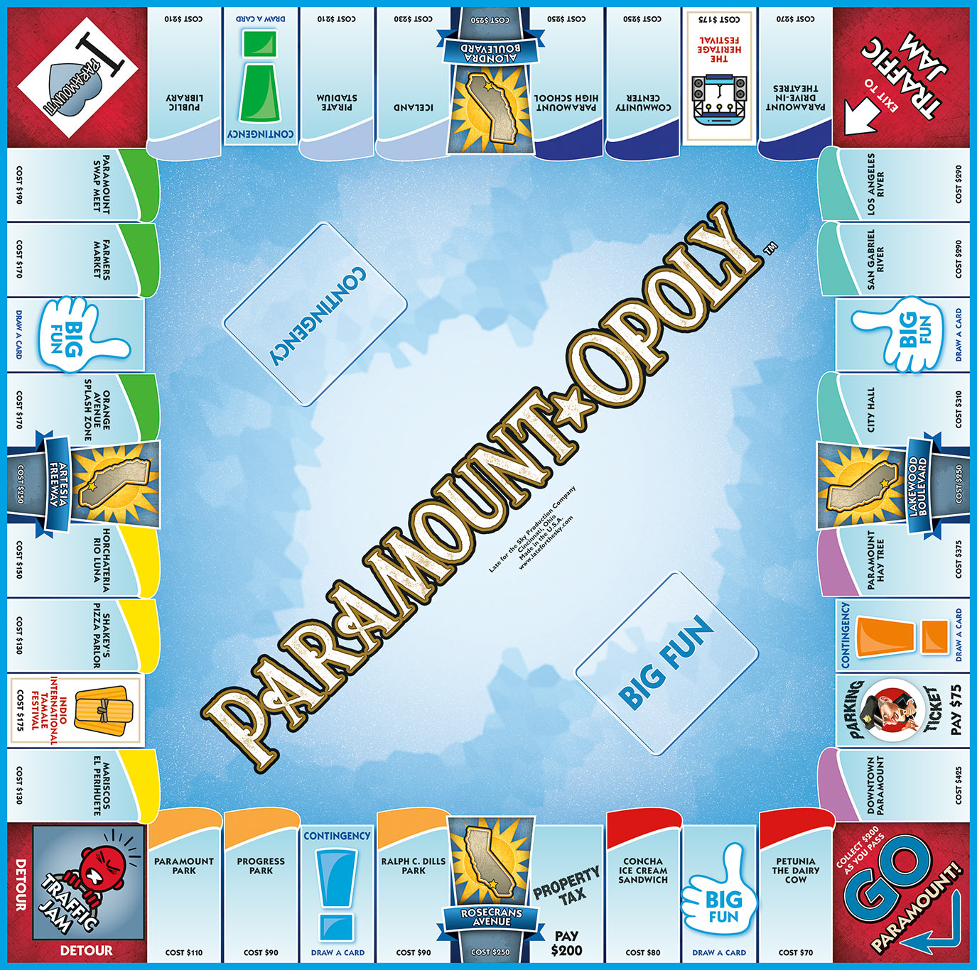 PARAMOUNT-OPOLY Board Game