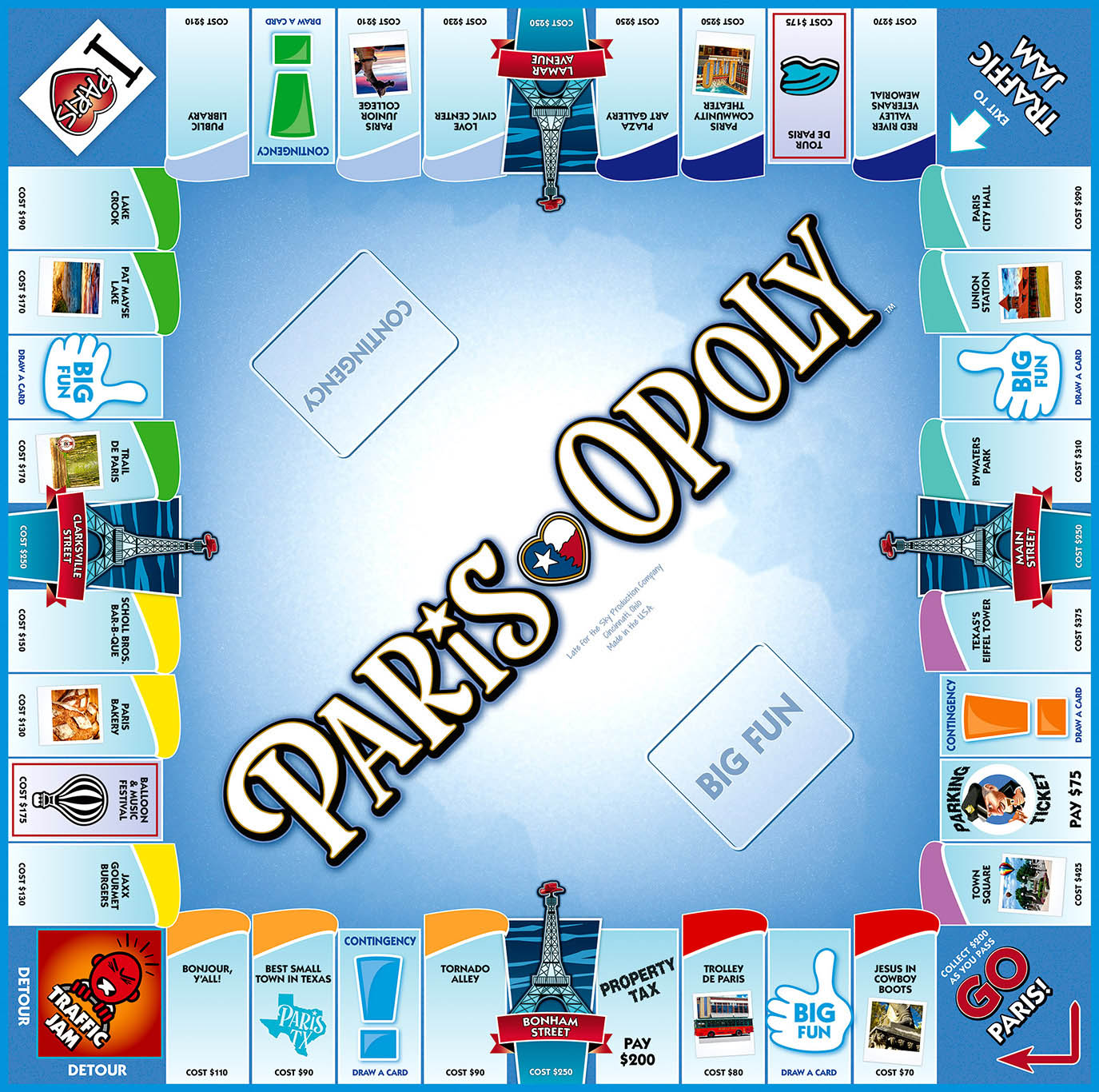 PARIS-OPOLY Board Game