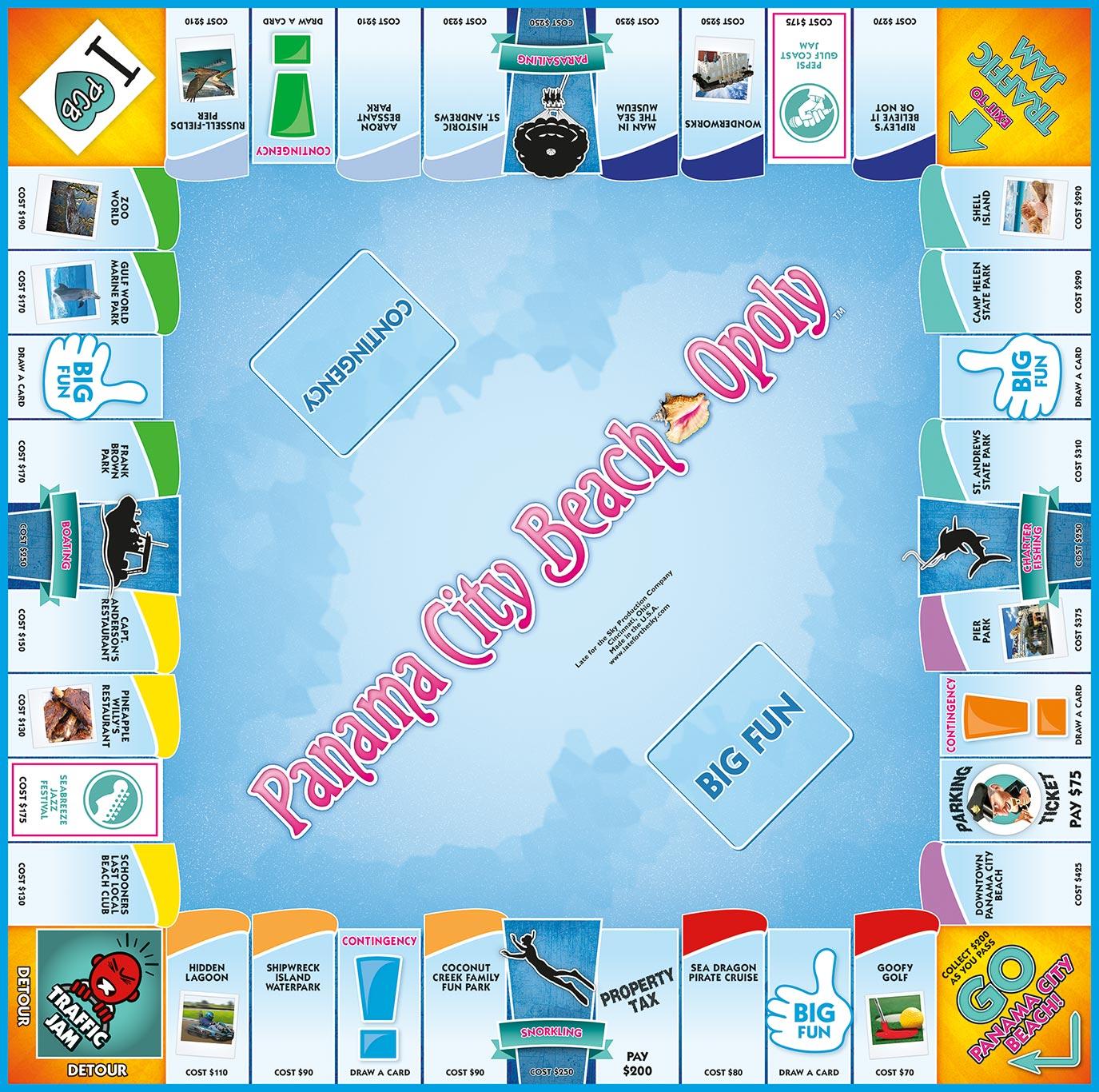 PANAMA CITY BEACH-OPOLY Board Game