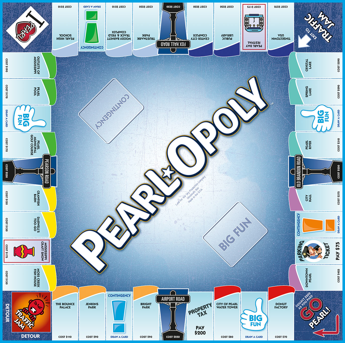 PEARL-OPOLY Board Game