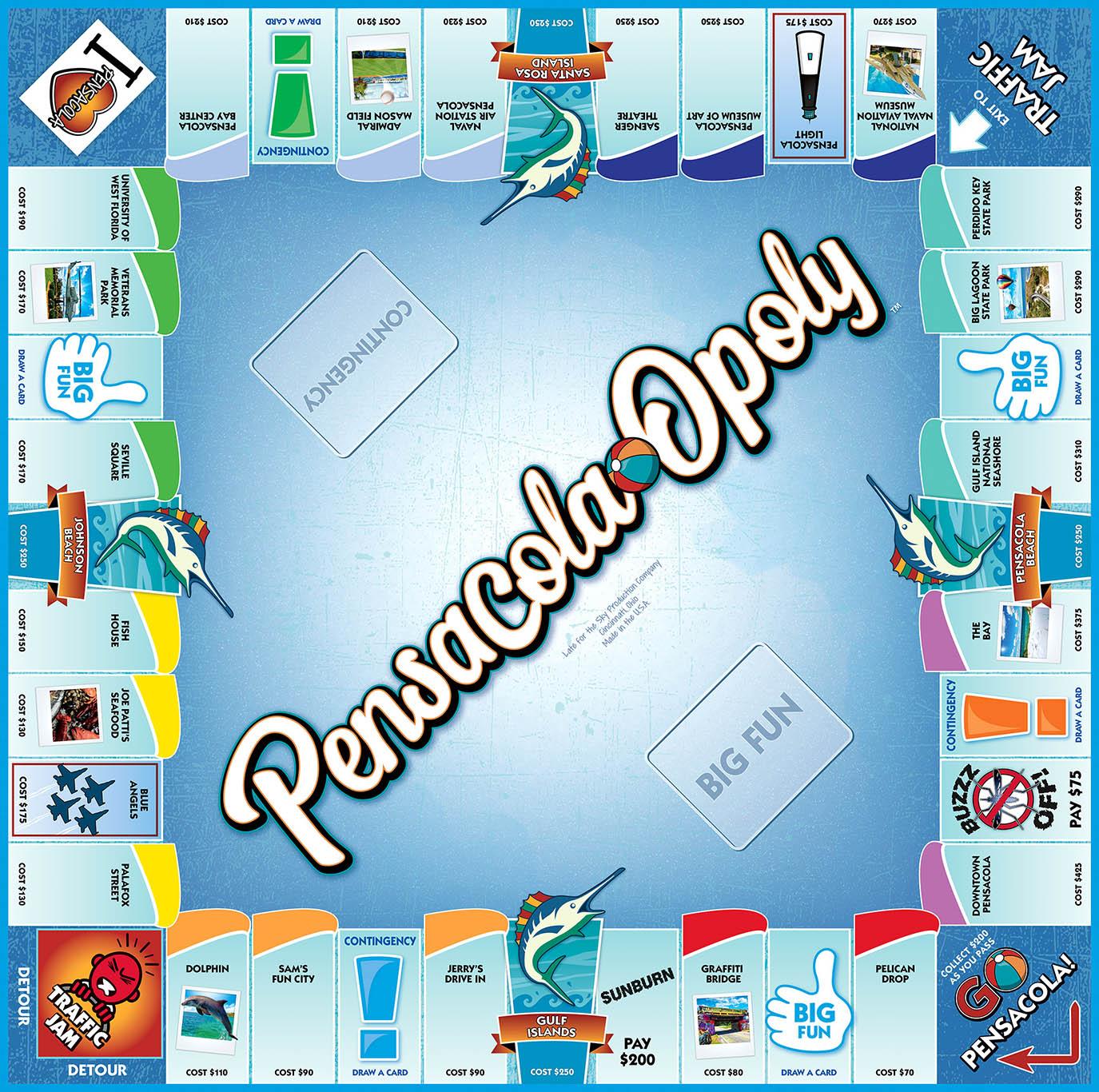 PENSACOLA-OPOLY Board Game
