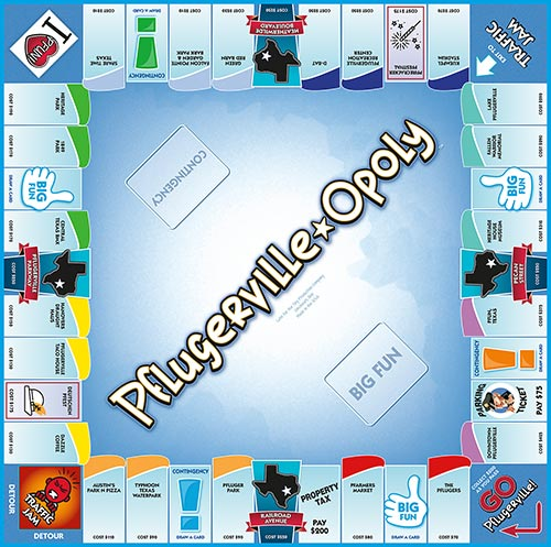 PFLUGERVILLE-OPOLY Board Game