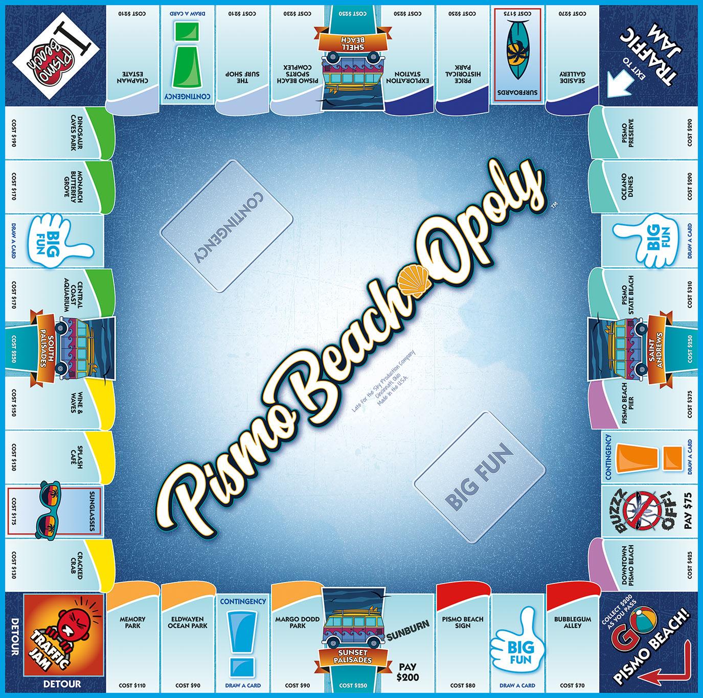 PISMO BEACH-OPOLY Board Game