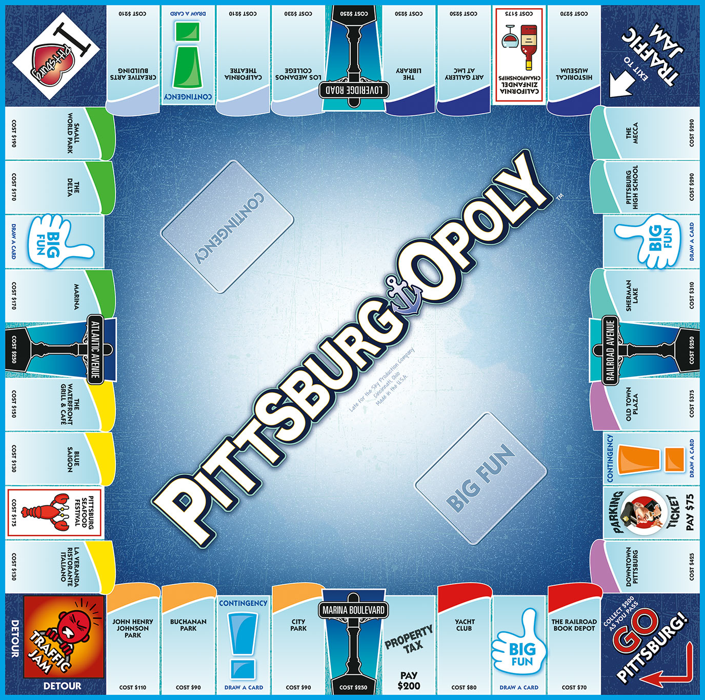 PITTSBURG-OPOLY Board Game